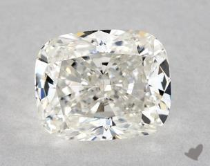 Cushion 1.01, color G, VVS2  Very Good diamond