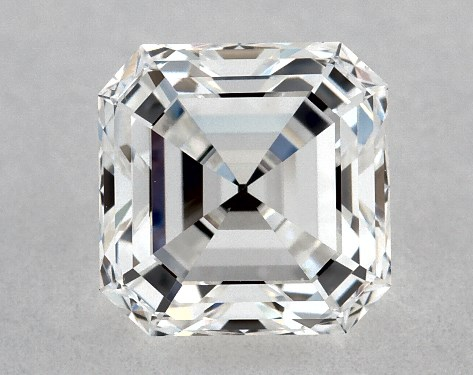 Asscher 0.72, color F, VS2  Very Good diamond