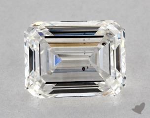 Emerald 1.35, color G, SI2  Very Good diamond