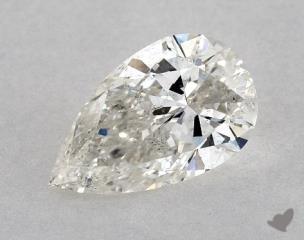 Pear 1.06, color H, SI2  Very Good diamond