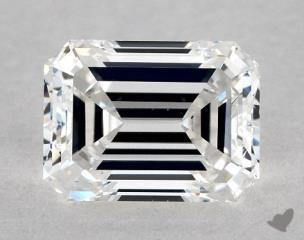 Emerald 1.05, color E, VS1  Very Good diamond