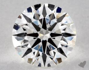 Round 1.36, color G, VS1  Ideal diamond