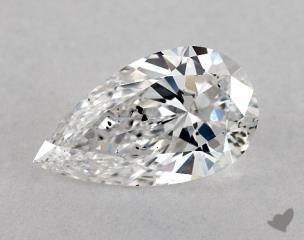 Pear 0.77, color E, I1  Very Good diamond