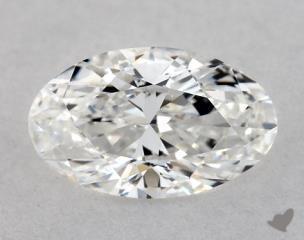 Oval 0.55, color D, VVS2  Very Good diamond