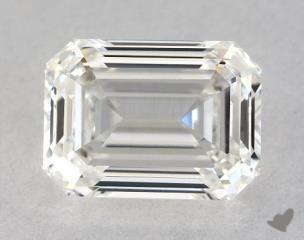 Emerald 0.93, color I, VVS2  Very Good diamond