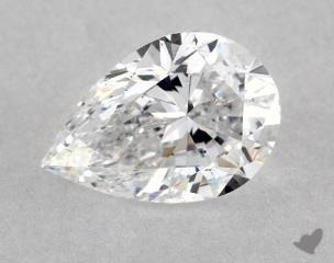 Pear 0.71, color D, SI1  Very Good diamond