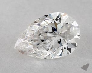 Pear 0.52, color E, SI1  Very Good diamond