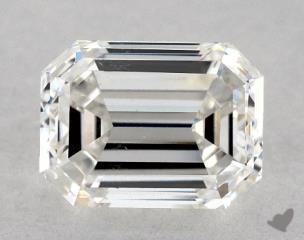 Emerald 1.04, color G, SI1  Very Good diamond