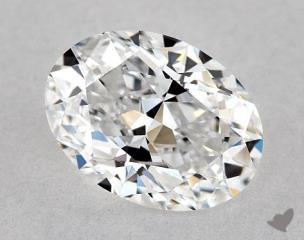 Oval 1.20, color D, IF  Very Good diamond