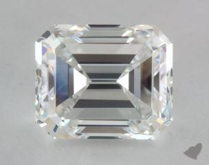 Emerald 4.02, color F, VVS2  Good diamond