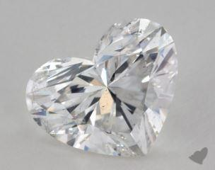 Heart 2.51, color G, SI2  Very Good diamond