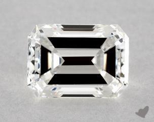 Emerald 0.91, color H, VVS2  Very Good diamond