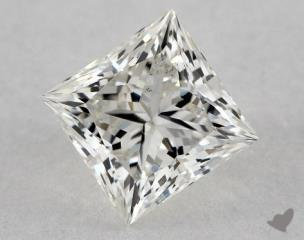 Princess 0.92, color I, SI2  Ideal diamond