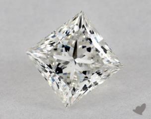 Princess 0.74, color G, IF  Ideal diamond