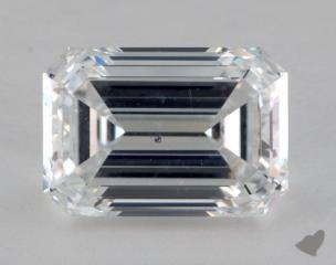Emerald 3.32, color E, SI1  Very Good diamond