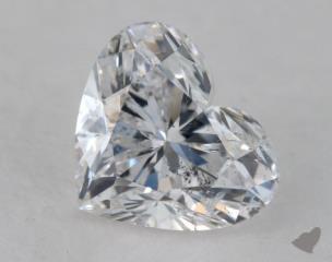 Heart 1.10, color E, I1  Very Good diamond