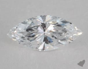 Marquise 1.09, color D, I1  Very Good diamond