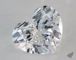 Heart 2.27, color D, SI1  Very Good diamond