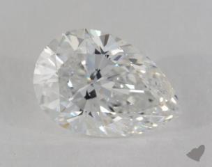 Pear 4.03, color E, VS2  Very Good diamond