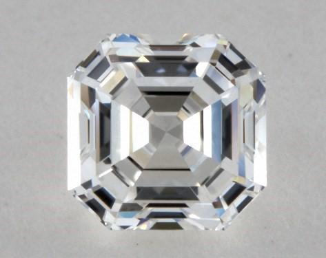 Asscher 0.50, color F, VVS2  Ideal diamond