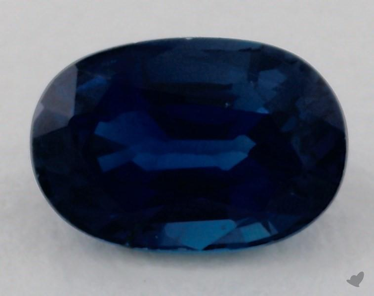 Gemstones Blue Sapphire 0 81 Carat Oval Sku 18920