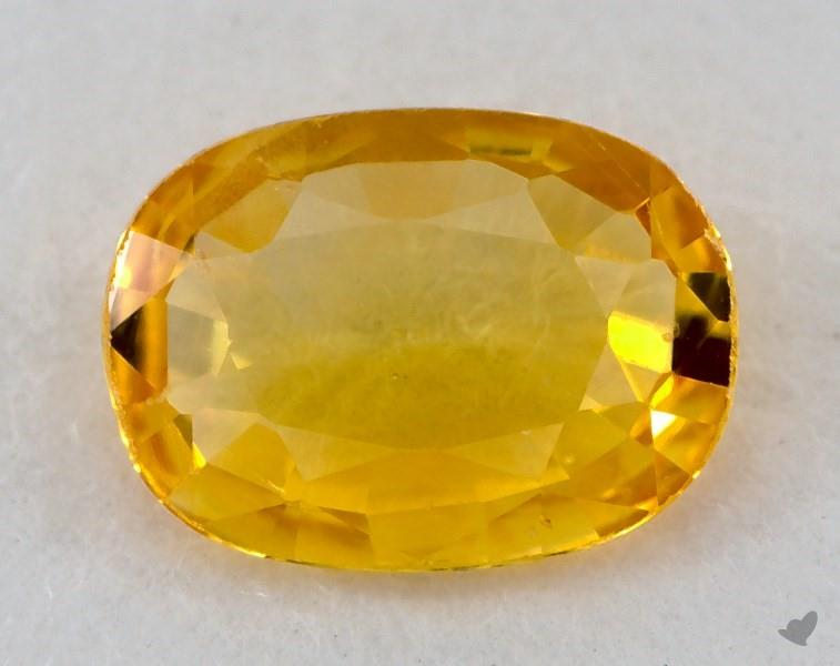 gemstones, yellow sapphire, 0.71 carat oval sku 20845  gemstones, yell...