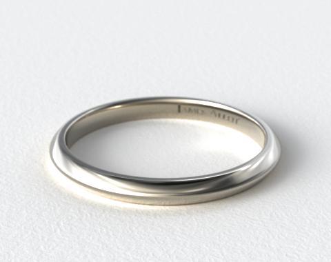 2mm knife edge women39s wedding ring platinum james for Women s platinum wedding rings