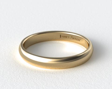4mm low dome wedding ring 14k yellow gold james allen With james allen mens wedding rings