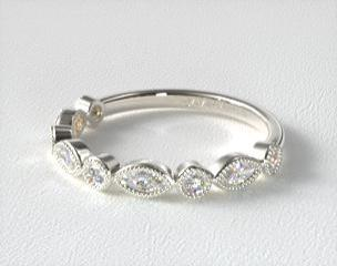 cut set in band wedding ring ct diamond bands channel setting round