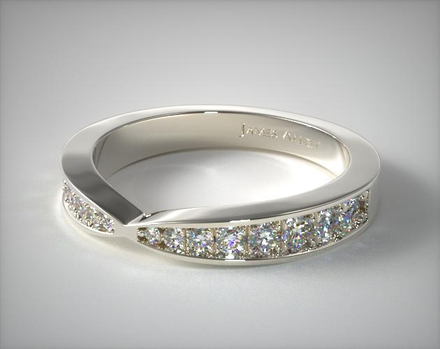 Wedding Ring Bands >> Tapered Pave Band | 14K White Gold | James Allen | 150231W14