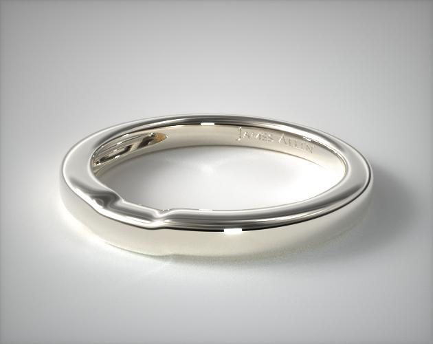 Milgrain Crown Wedding Ring Platinum James Allen 15536P