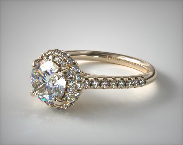 Falling Edge Engagement Ring