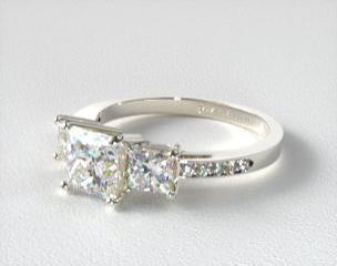 DETAILS · 14K White Gold Three Stone ...