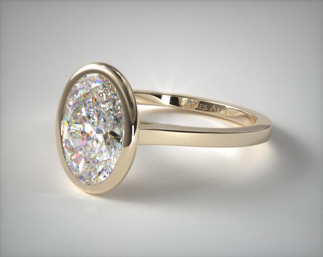 Ruby Wedding Ring Sets Yellow Gold Bezel Set