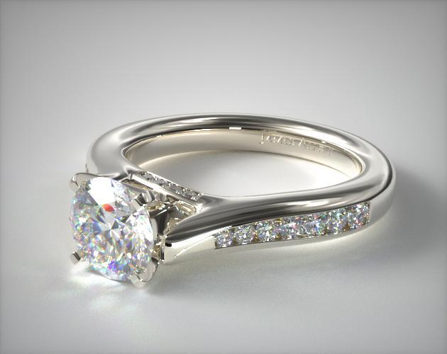 One Of A Kind Bypass Engagement Ring