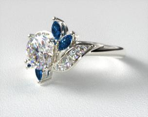 Image result for 14K WHITE GOLD BIRD OF PARADISE ENGAGEMENT RING