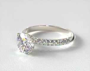 Thin Band Engagement Ring Canada