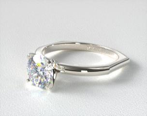 d28dd867382264 14K White Gold Perfect Fit Solitaire Engagement Ring