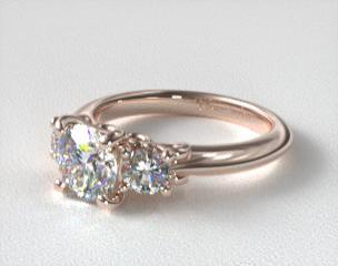 rose gold engagement rings jamesallencom - Rose Wedding Rings