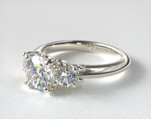 in cut wedding v rings gold engagement t stone w white ring princess ct three tw princesscut composite diamond p