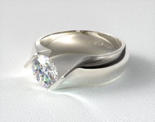 modern tension set engagement rings jamesallencom - Contemporary Wedding Rings