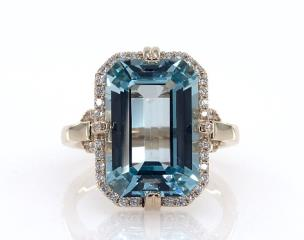 Image result for james allen  BLUE TOPAZ AND DIAMOND RING BY EFFY