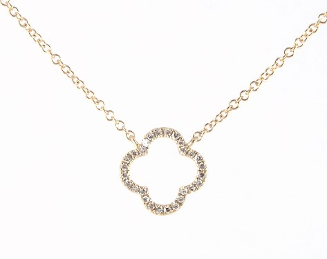 Necklaces Diamond Necklaces 14k Yellow Gold Lucky Clover