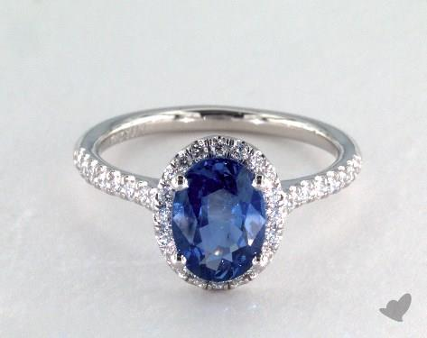 Sapphire Wedding Rings.1 91 Carat Oval Cut Halo Engagement Ring In Platinum