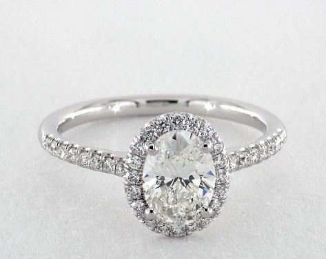Oval Cut Engagement Rings Jamesallen Com
