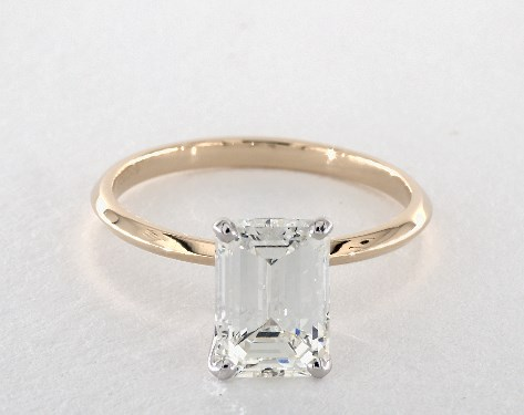 James Allen 2.50 Carat Emerald Cut Solitaire Engagement Ring