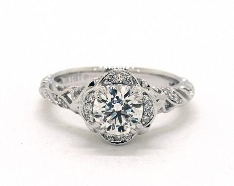 0 77 Carat Round Cut Vintage Engagement Ring In 14k White Gold 1843386