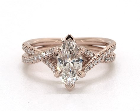 Marquise Cut Diamond Engagement Rings Jamesallen Com