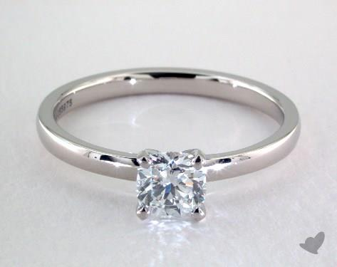 757c9de13e65d 0.70 Carat Cushion Cut Solitaire Engagement Ring in Platinum