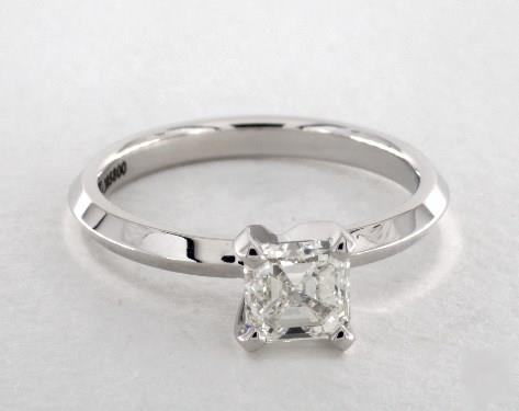 1.01ct Asscher, Knife-Edge Classic 4-Prong Engagement Ring in 2mm 14K White Gold by James Allen